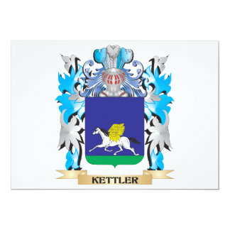 Kettler Coat of Arms - Family Crest 5x7 Paper Invitation Card