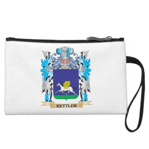 Kettler Coat of Arms - Family Crest Wristlet Clutches