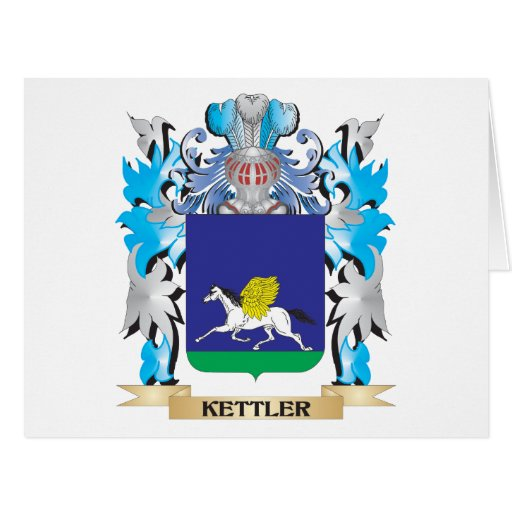 Kettler Coat of Arms - Family Crest Card