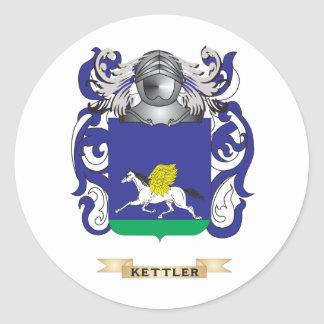 Kettler Coat of Arms (Family Crest) Classic Round Sticker