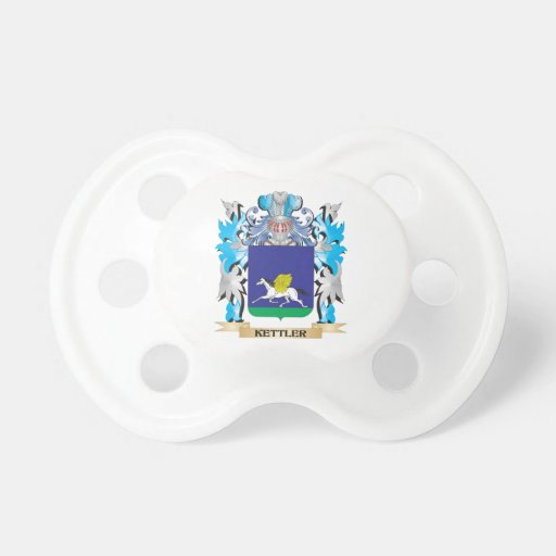 Kettler Coat of Arms - Family Crest Baby Pacifier