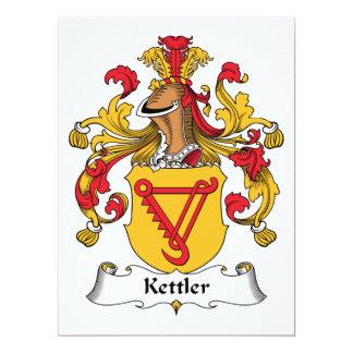 Kettler Family Crest 6.5x8.75 Paper Invitation Card
