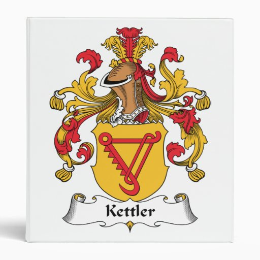 Kettler Family Crest 3 Ring Binder