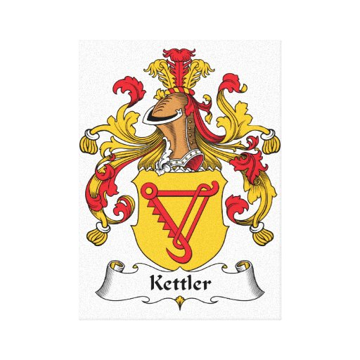 Kettler Family Crest Canvas Print