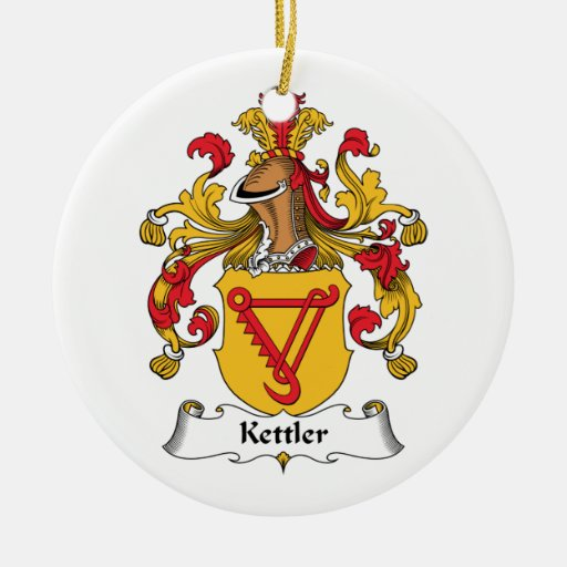 Kettler Family Crest Christmas Tree Ornament