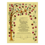 Ketubah del otoño con el árbol de la vida - B Impresiones