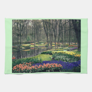 Keukenhof, a floral banquet towel