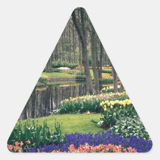 Keukenhof, a floral banquet triangle sticker