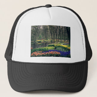keukenhof gardens floral display, Holland Trucker Hat