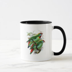 Combo Mug with Keulemans' Philippine Hanging Parrot design