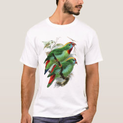 Men's Basic T-Shirt with Keulemans' Philippine Hanging Parrot design