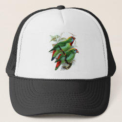 Trucker Hat with Keulemans' Philippine Hanging Parrot design