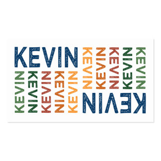 Kevin Cute Colorful Business Card