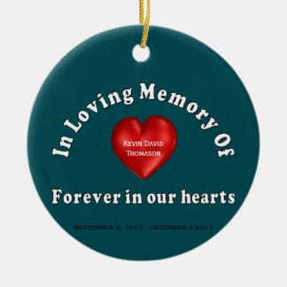 Kevin David Thomason Personalized Custom Memorial Ceramic Ornament
