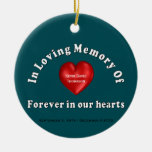 Kevin David Thomason Personalized Custom Memorial Double-Sided Ceramic Round Christmas Ornament