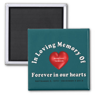 Kevin David Thomason Personalized Custom Memorial Magnet