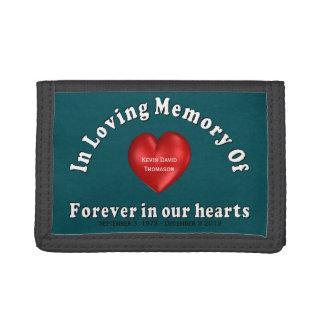 Kevin David Thomason Personalized Custom Memorial Tri-fold Wallets