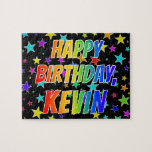 "[ Thumbnail: ""Kevin"" First Name, Fun ""Happy Birthday"" Jigsaw Puzzle ]"