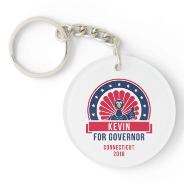 USA Themed Kevin for Governor Keychain