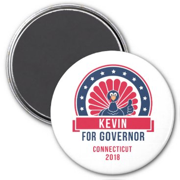 USA Themed Kevin for Governor Magnet