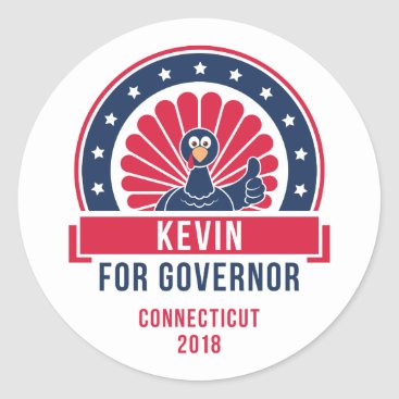 USA Themed Kevin for Governor Sticker