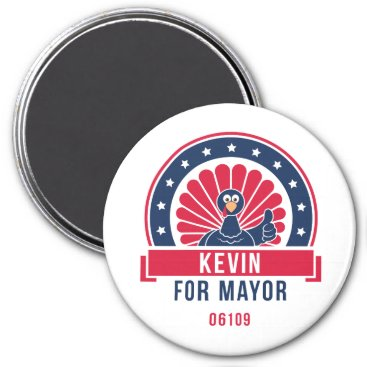 USA Themed Kevin for Mayor 06109 Magnet