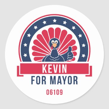 USA Themed Kevin for Mayor 06109 Sticker
