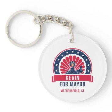 USA Themed Kevin for Mayor of Wethersfield Keychain
