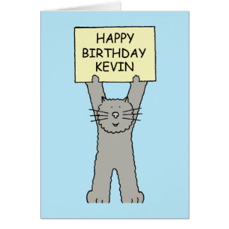 Kevin The Cat Birthday Cake
