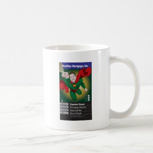 Kevin Onizuk Captain Mortgage Coffee Mugs
