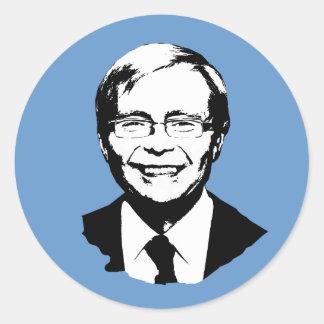 Kevin Rudd Pegatina Redonda