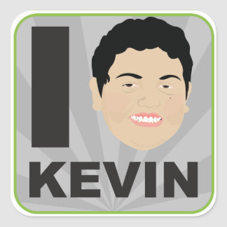 Kevinism #1 - I am KEVIN decal Square Sticker