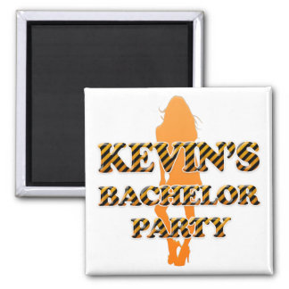 Kevin's Bachelor Party 2 Inch Square Magnet