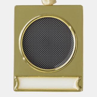 Kevlar Carbon Fiber Material Gold Plated Banner Ornament