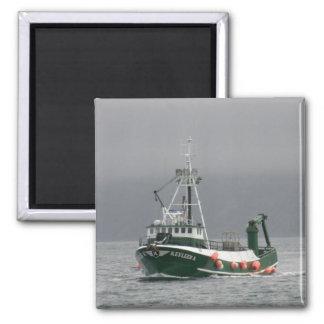 Kevleen K, Crab Boat in Dutch Harbor, Alaska 2 Inch Square Magnet