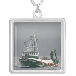 Kevleen K, Crab Fishing Boat Silver Plated Necklace