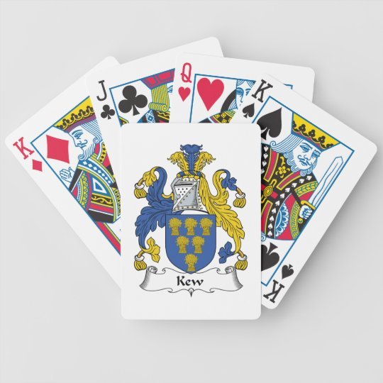 Kew Family Crest Bicycle Playing Cards