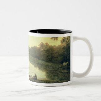 Kew Gardens: The Pagoda and Bridge, 1762 (oil on c Two-Tone Coffee Mug