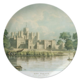 Kew Palace as seen from Brentford, engraved by Tho Plate