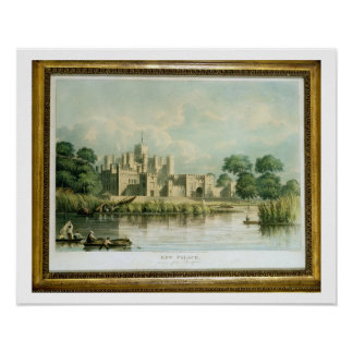 Kew Palace as seen from Brentford, engraved by Tho Poster