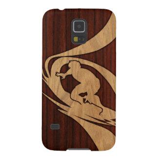 Kewalos Hawaiian Surfer Faux Wood Cases For Galaxy S5