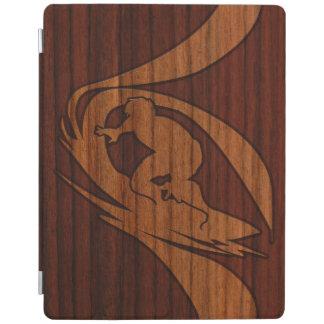 Kewalos Hawaiian Surfer Faux Wood iPad Smart Cover