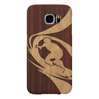 Kewalos Hawaiian Surfer Faux Wood Samsung Galaxy S6 Case