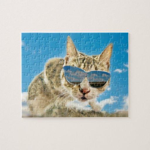 Kewl Kat que lleva Sunglassses Puzzle