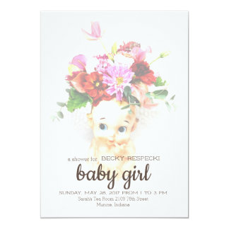 Kewpie Baby Shower Invitation