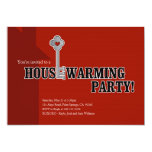 Key and Heart, Housewarming Party 5x7 Paper Invitation Card
