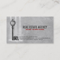 Key and House - Real Estate Business Card