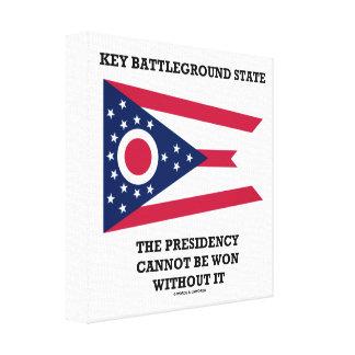 Key Battleground State Presidency Ohio State Flag Canvas Print