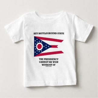 Key Battleground State Presidency Ohio State Flag Infant T-shirt