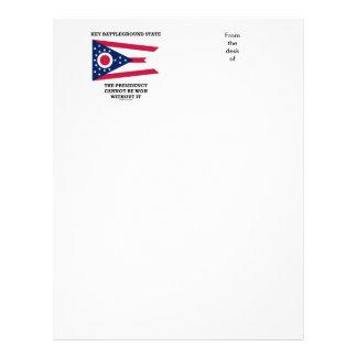 Key Battleground State Presidency Ohio State Flag Letterhead